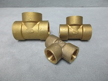 Brass Threaded Tees